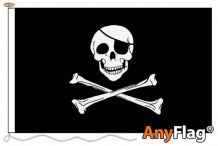 SKULL AND CROSSBONES ANYFLAG RANGE - VARIOUS SIZES